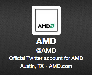 AMD's new Twitter handle boasts more than 20,000 followers