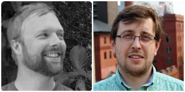 AppThwack founders Trent Peterson and Pawel Wojnarowicz.