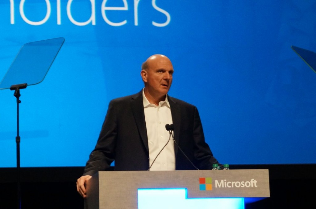 Steve Ballmer stepped down from Microsoft in February after 14 years as CEO.