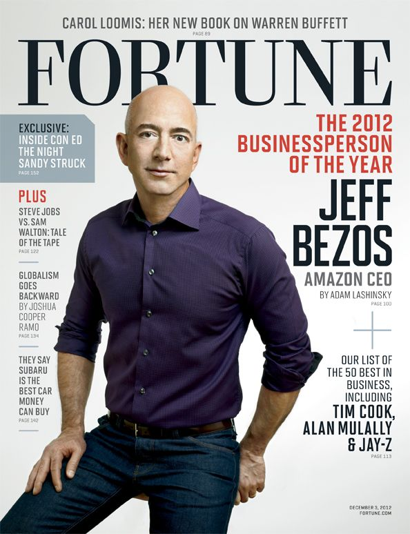 The Ultimate Disrupter Jeff Bezos Named Fortune S Businessperson