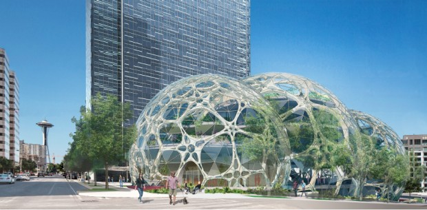 microsoft seattle office. A Rendering Of Amazon\u0027s New Campus North Downtown Seattle. (Credit: NBBJ) Microsoft Seattle Office