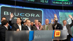 The Blucora team ringing the opening bell on Nasdaq in 2012
