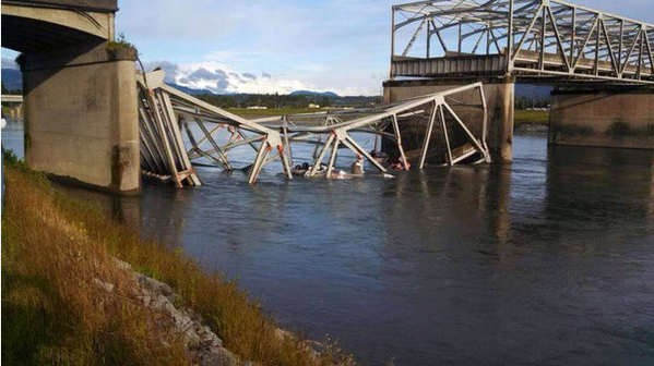 Skagit River bridge. Photo via KING 5