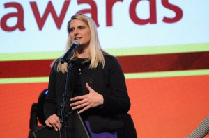 Shauna Causey at the GeekWire Awards