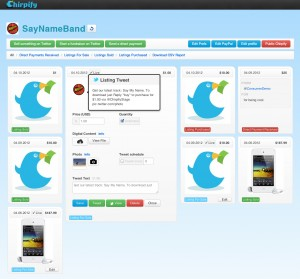 The Chirpify Dashboard.