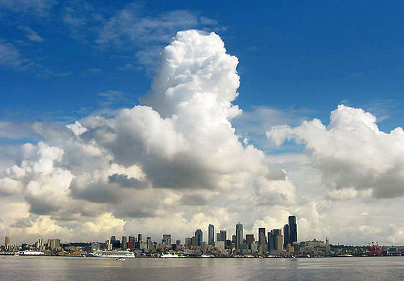 Clouds over Seattle. Flickr photo via Dan Hershman
