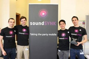 Colinked, a student team from the U.K., created SoundSYNK, an app that lets different smartphones play songs at the exact same time. (imaginecup.com)