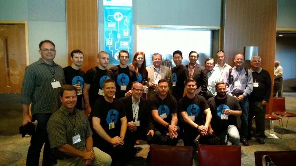 The Comr.se team at 9Mile Labs Demo Day. Photo courtesy of Comr.se.
