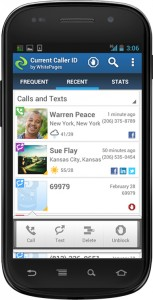 WhitePages' Current CallerID app.