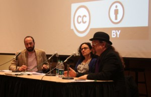 Panelists at the cybercrime panel at the University of Washington