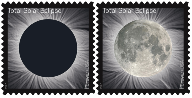 Touch new stamp and presto, total solar eclipse becomes moon