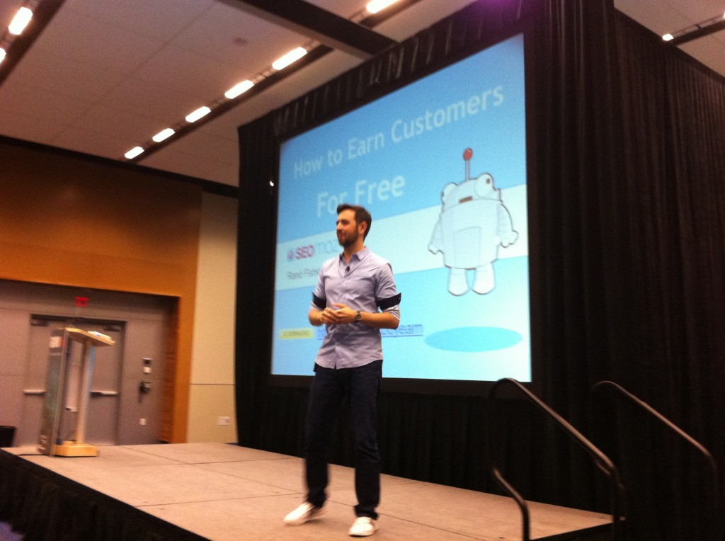 Rand Fishkin speaking at the GROW conference in Vancouver, B.C.