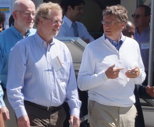 Nathan Myhrvold and Bill Gates at a Gates Foundation event in Seattle.