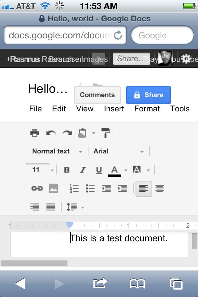 Whoops: Google Docs breaks in Safari on the iPhone – GeekWire