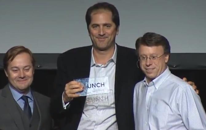 Phil Gordon of Jawfish with Launch organizer Jason Calacanis and Google's Don Dodge.