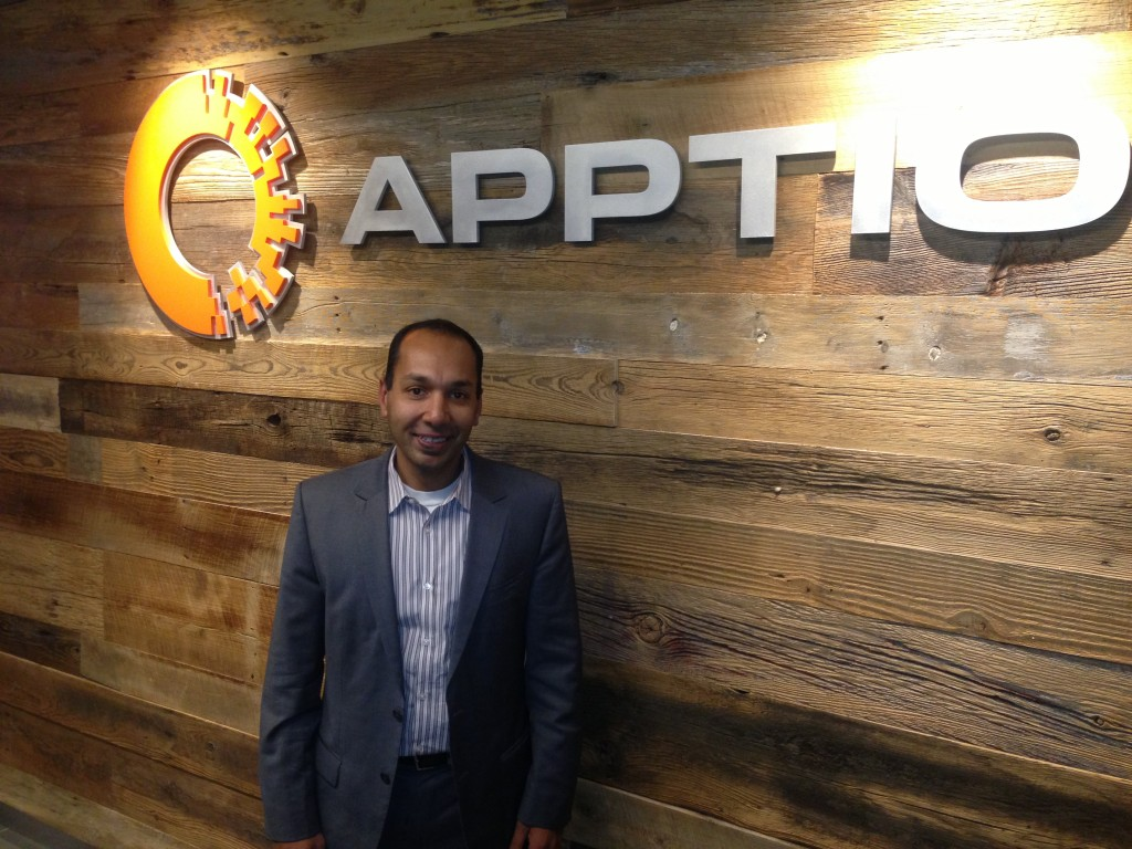 Apptio CEO Sunny Gupta at the company's HQ in Bellevue
