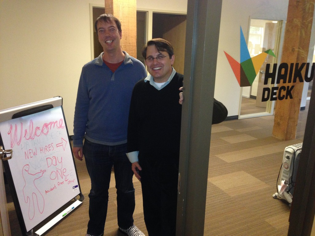Haiku Deck co-founders Kevin Leneway and Adam Tratt.