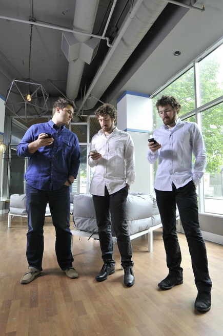 CEO Peter Hamilton and founders Lucas and Lee Brown of HasOffers