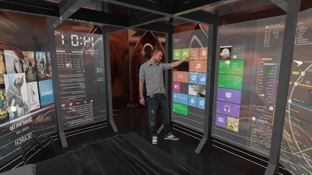 The Hotel Room Of The Future Runs Windows 8 On Its