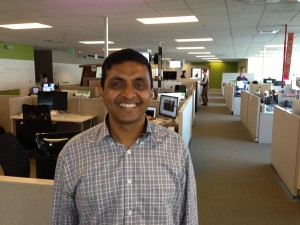 Groupon's Hegde at the company's Seattle office