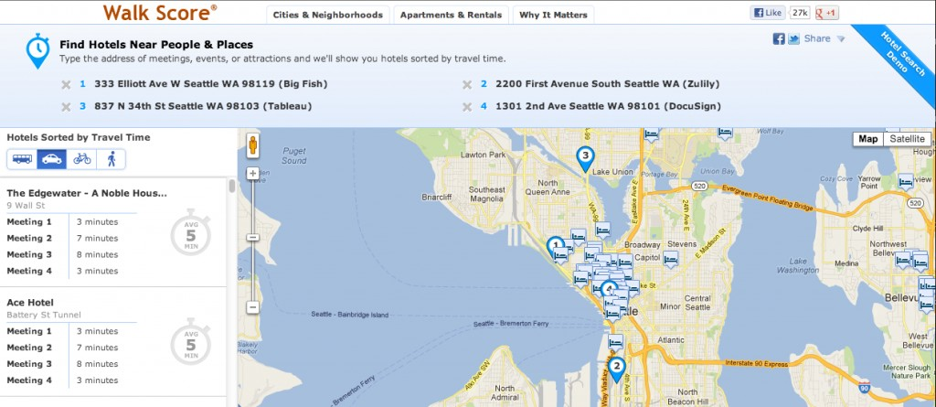How far is the Sheraton from the Space Needle? Walk Score unveils ...