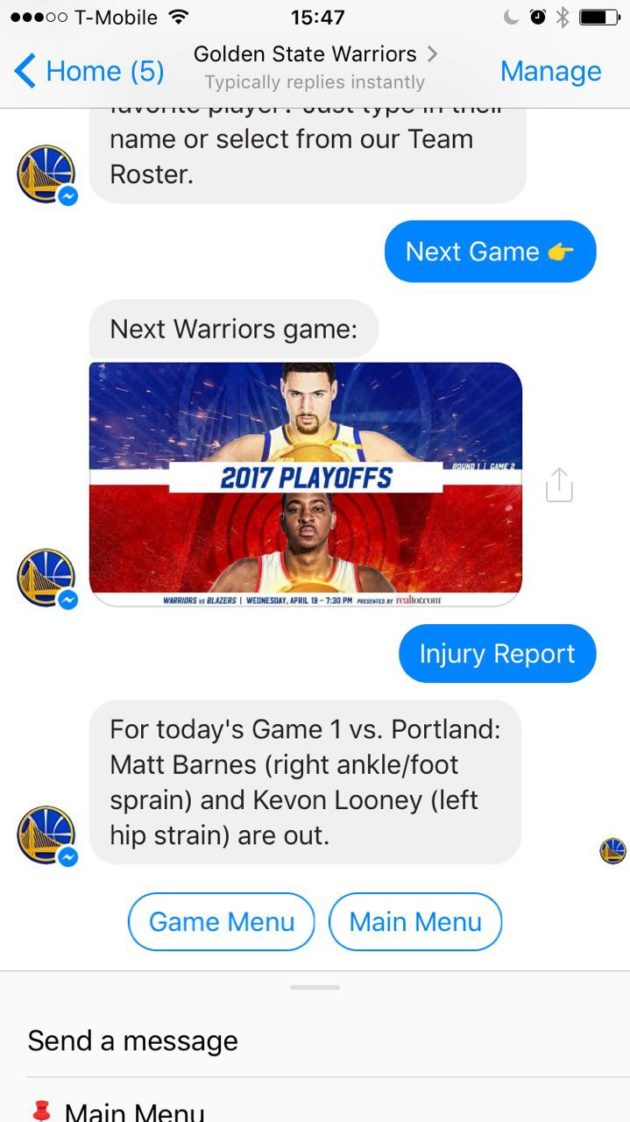 online store 9edb3 31ac2 Golden State Warriors fans now have a new tech-powered assistant at their  disposal during the NBA Playoffs.