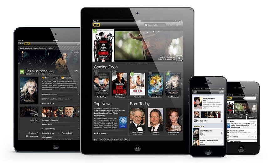 amazon s imdb touts m mobile app s adds new features to  imdb said today that its popular app for movie tv shows and other entertainment content has been ed 50 million times android and ios each