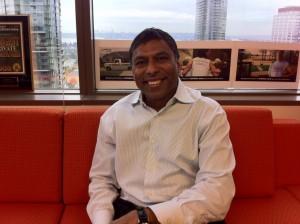 Naveen Jain at the Intelius offices in Bellevue