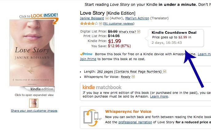Amazon debuts time-sensitive e-book sales with Kindle Countdown Deals