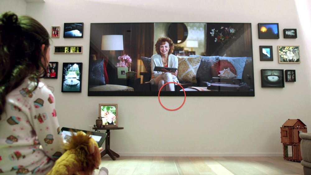 A Working Kinect Sensor Embedded In The Frame Of A 4K TV Set At Microsoftu0027s  Envisioning Center. (Click For Larger Image.)