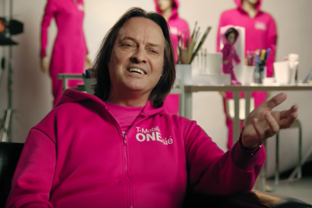 d537bae2ad T-Mobile CEO John Legere sports the T-Mobile ONEsie wearable technology. (T- Mobile screen shot)