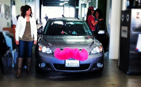 A Lyft vehicle. (Photo via the Lyft blog)