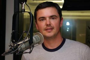 Matt Harding in the KIRO-FM studios. (Erynn Rose photo)