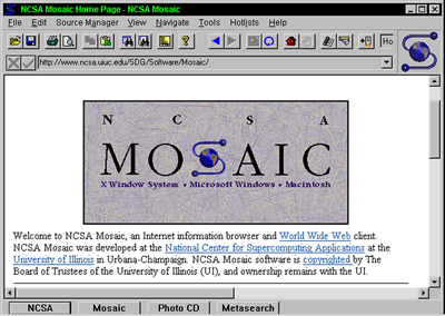 Web browsing, two decades ago