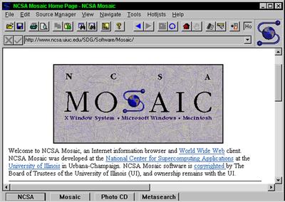 Web browsing, two decades ago