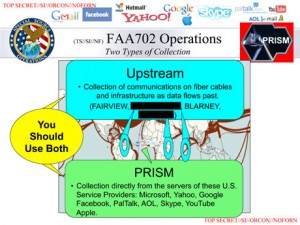 A slide from the leaked NSA deck implies direct access to companies' servers.