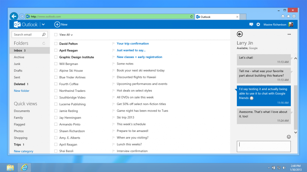 Microsoft builds Google Chat into Outlook.com webmail in new bid for switchers