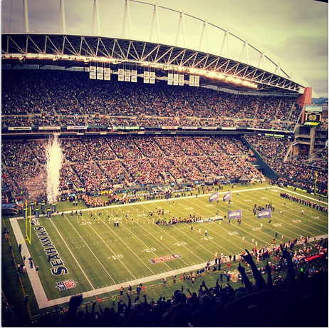 I had trouble uploading this picture from CenturyLink Field while at last year's Seahawks vs. 49ers game.