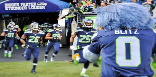 """Blitz"" at a recent Seahawks game. Photo courtesy of Asdourian."