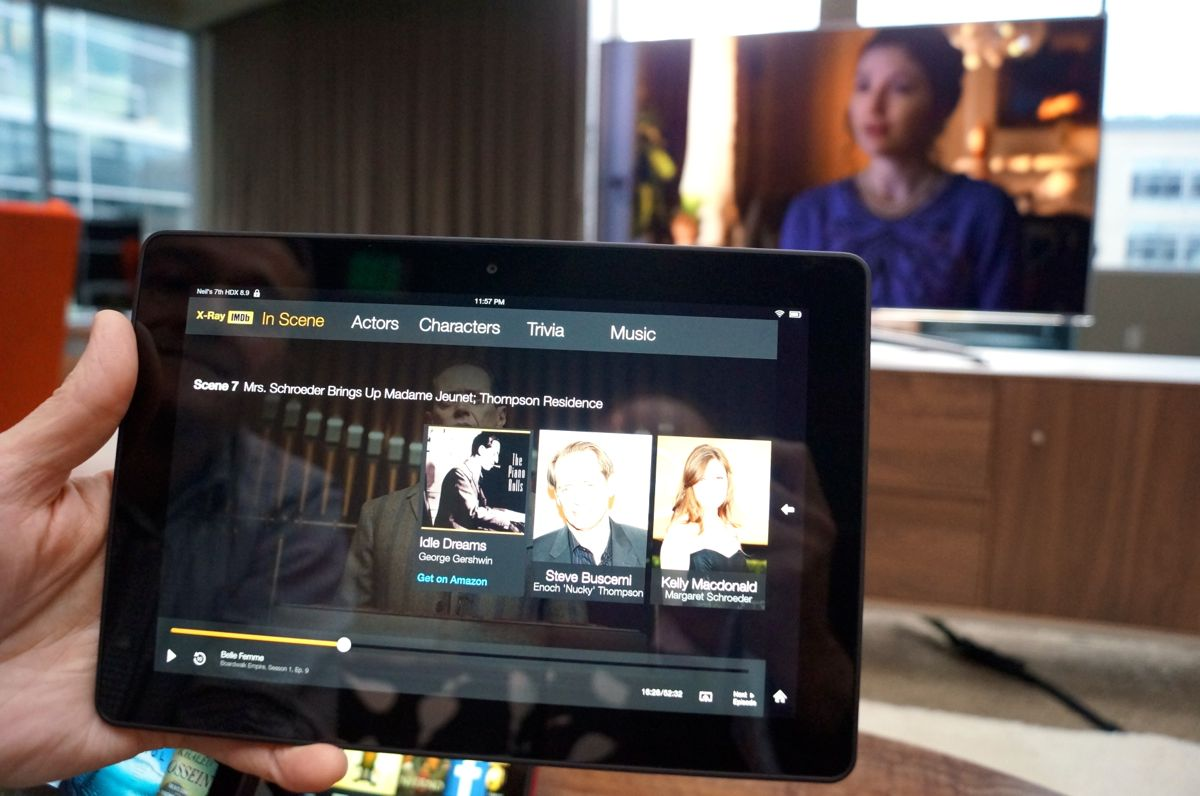 amazon debuts 'second screen' tv experience for kindle hdx, but