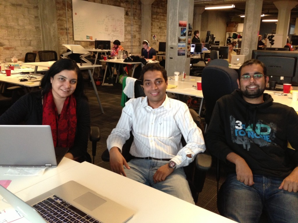 Avi Cavale, Manisha Sahasrabudhe and Ragesh Krishna of Shippable.