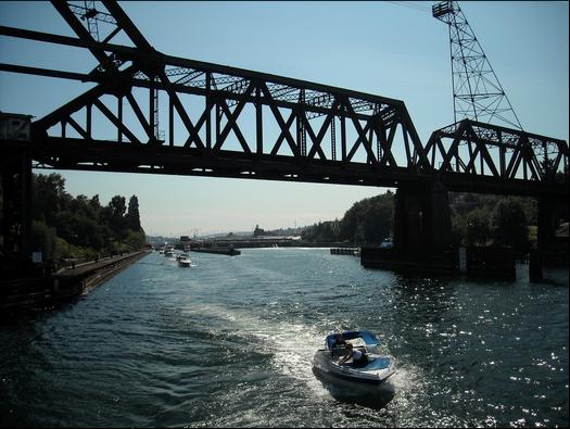 "Life is serene on he ""Silicon Canal,"" aka as the Lake Washington Ship Canal"