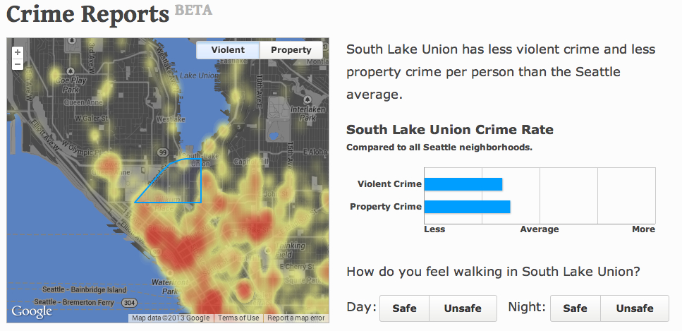 Avoid These Neighborhoods Walk Score Adds Crime Reports GeekWire - Seattle map neighborhood guide