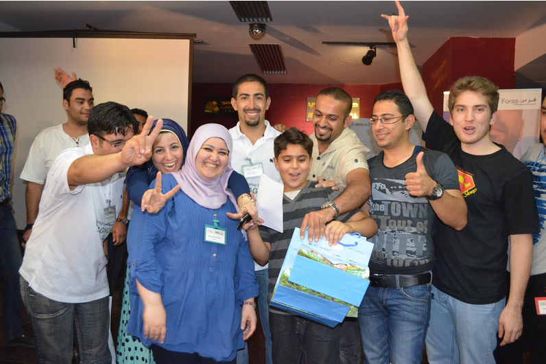 The joy of winning Startup Weekend Baghdad.