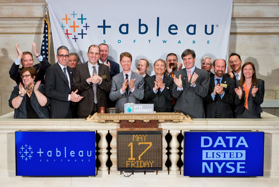 Video Watch The Very Happy Tableau Team Ring The Opening Bell On