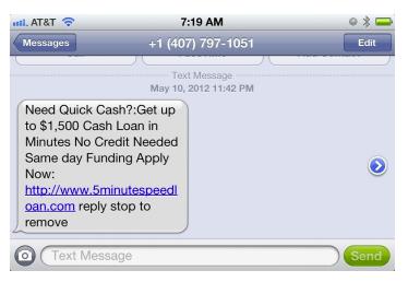 Premium message service
