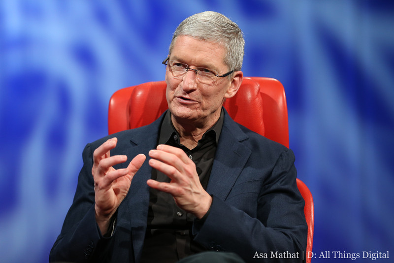 """Tim Cook at the D11 Conference. Photo by Asa Mathat 