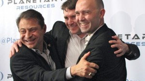 Peter Diamandis, Chris Lewicki and Eric Anderson of Planetary Resource.