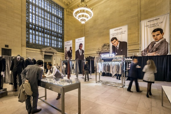 The Indochino Pop-Up Store: Grand Central Station, New York City.