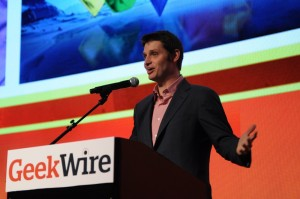 John Vechey at the GeekWire Awards